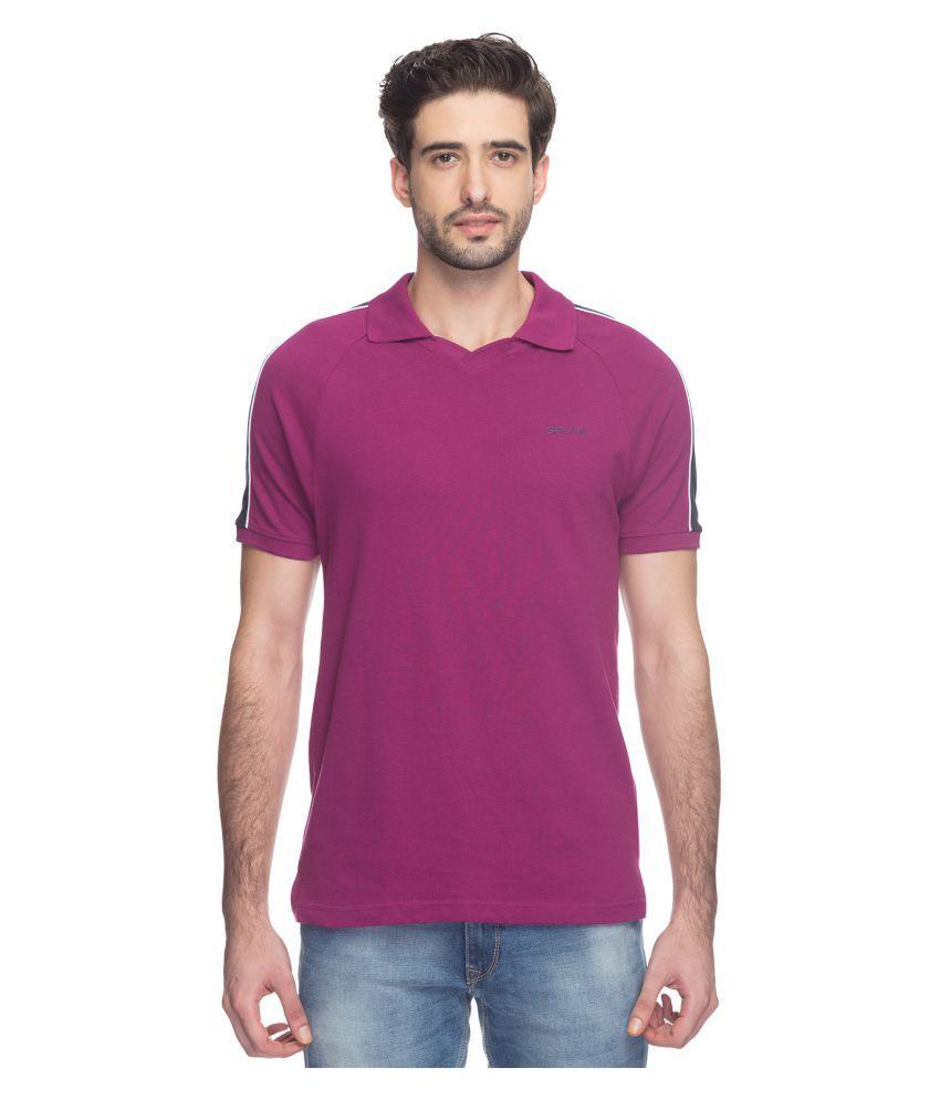 SPUNK by FBB Purple Cotton Polo T-Shirt Single Pack