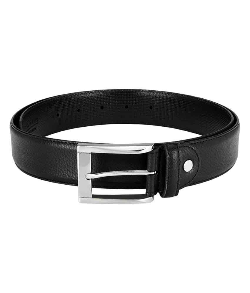 Park Avenue Black Leather Formal Belts