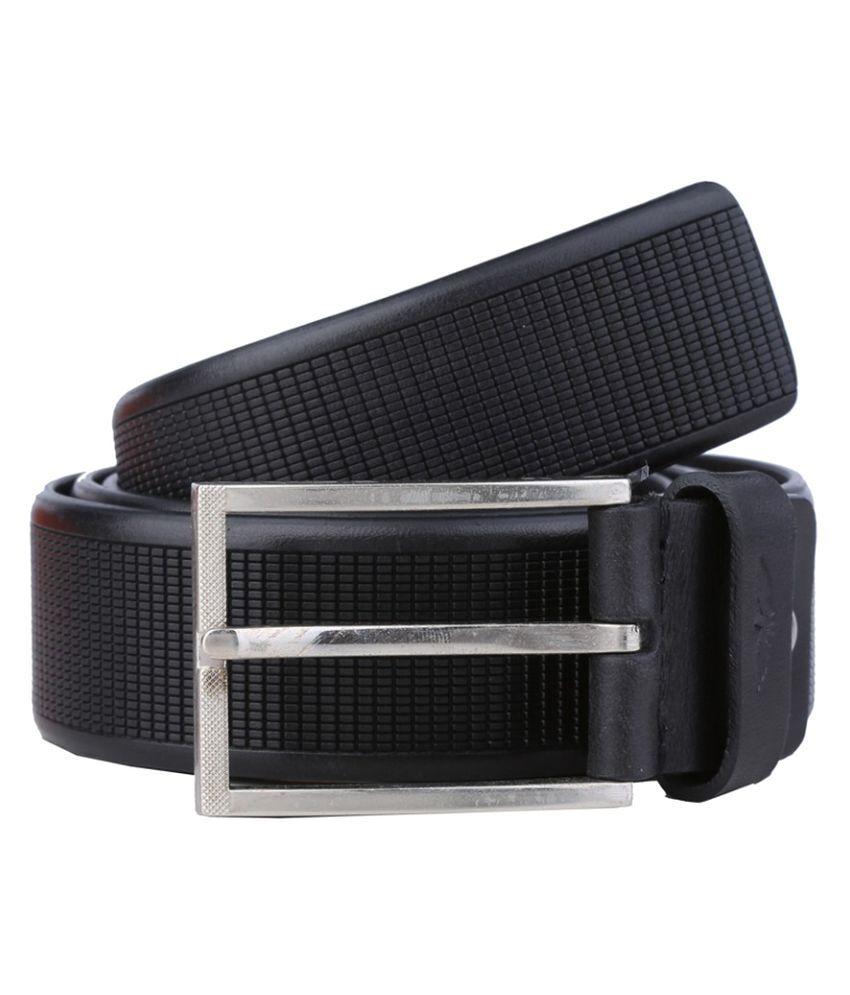 Park Avenue Black Leather Formal Belts