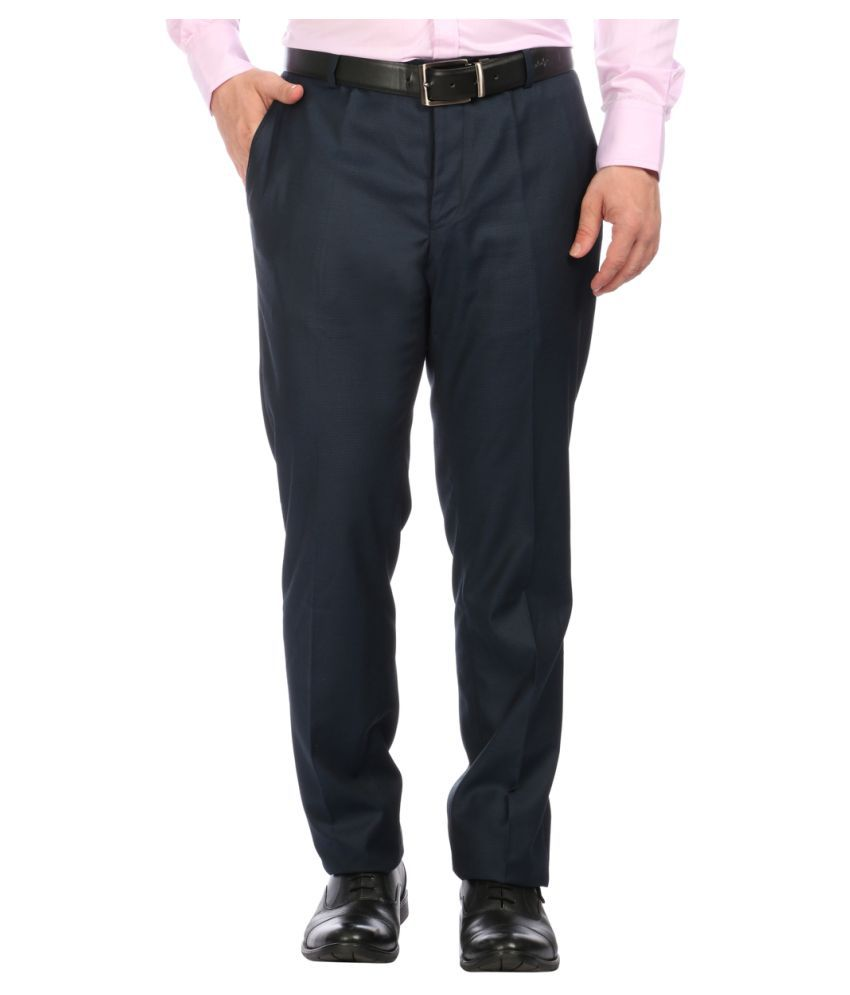 Donear NXG Blue Slim Pleated Trousers