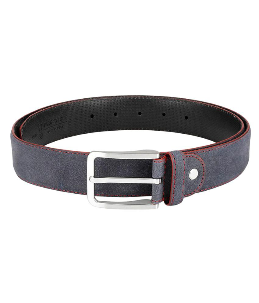 Park Avenue Blue Leather Formal Belts