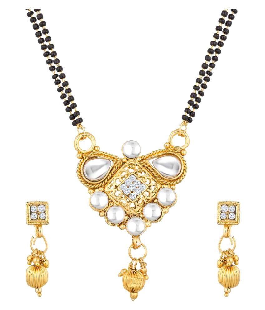 The Luxor Australian Diamond Studded Double Chain Mangalsutra