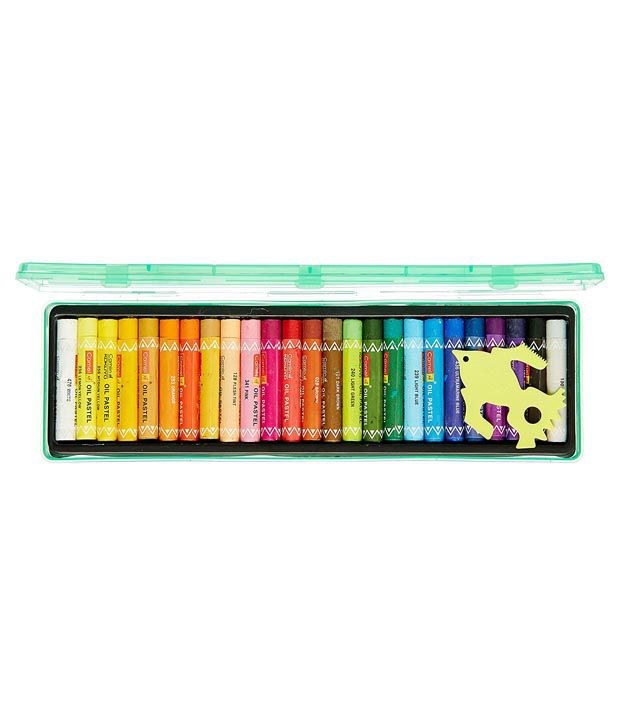 Camlin Oil Pastel Reusable Plastic Pack 25 Shades Buy