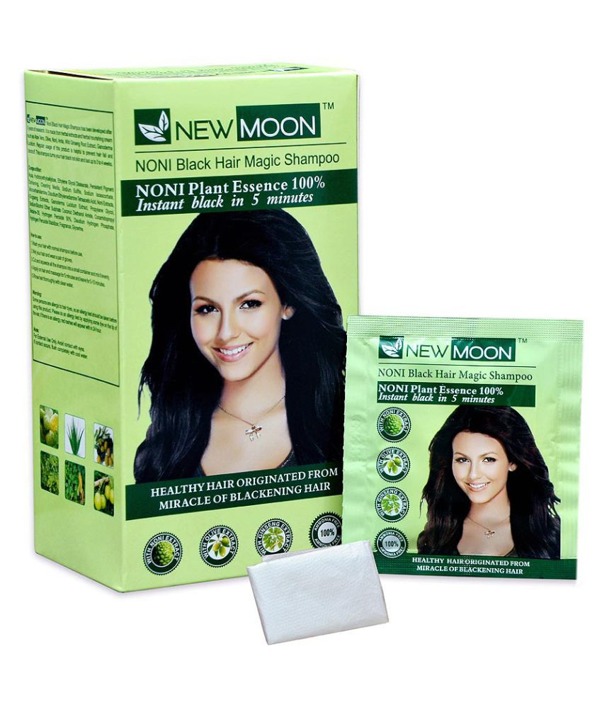 New Moon Noni Black Hair Magic Shampoo No Amoniya Permanent Hair