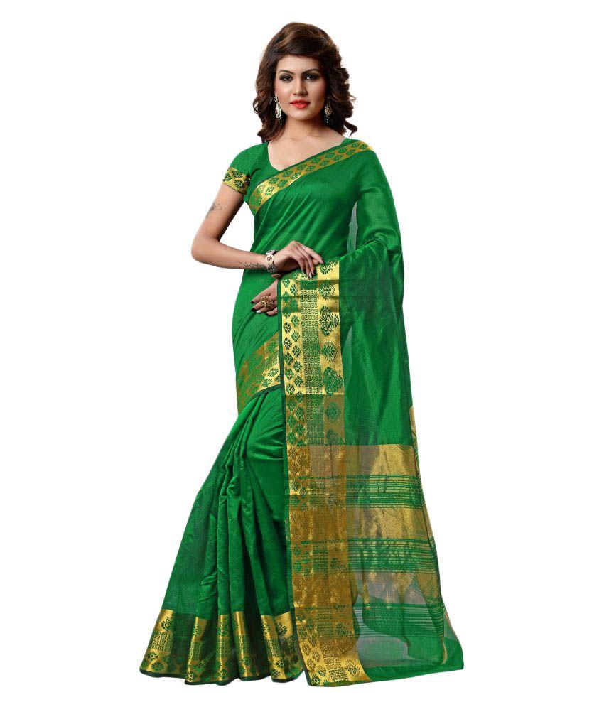 Aradhya Green Tissue Saree