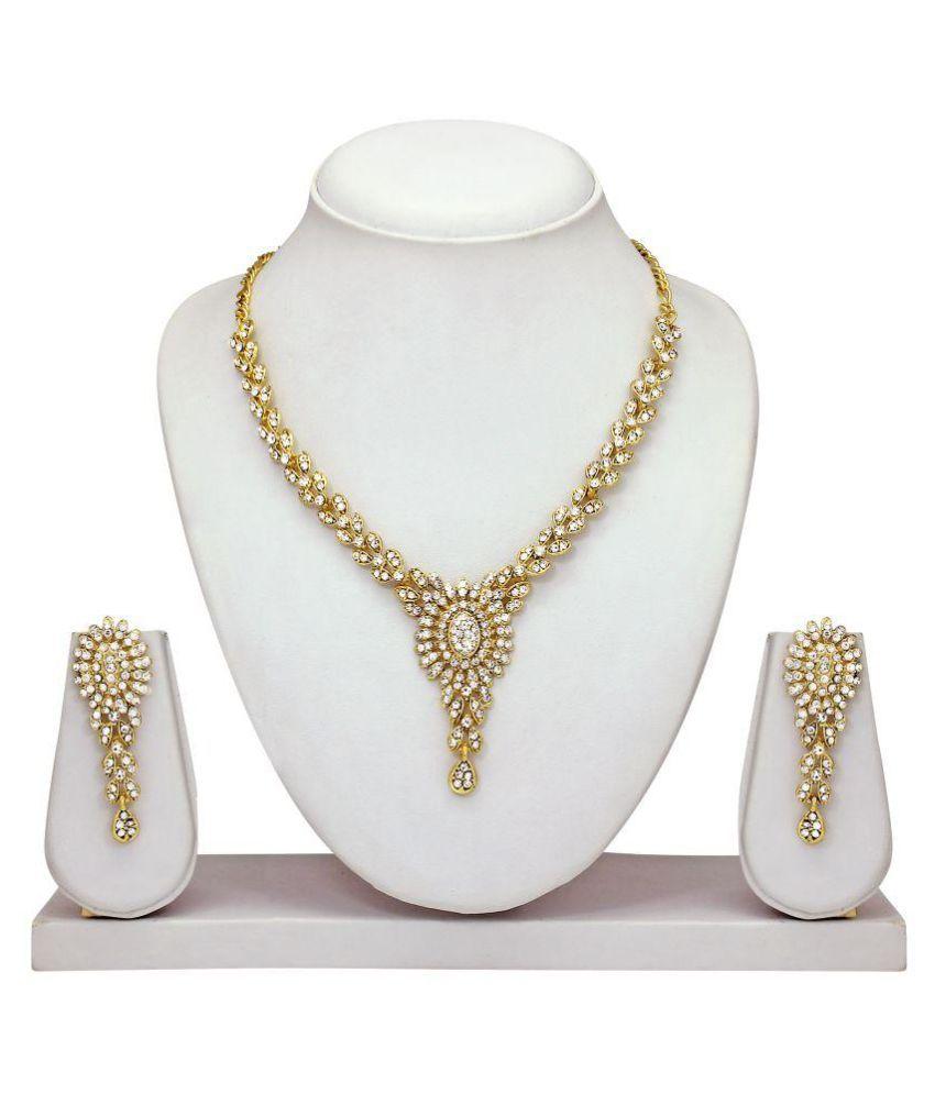 Atasi International Dazzling Diamond Necklace Set