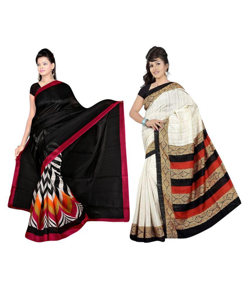 ESK Fashions Multicoloured Bhagalpuri Silk Saree Combos