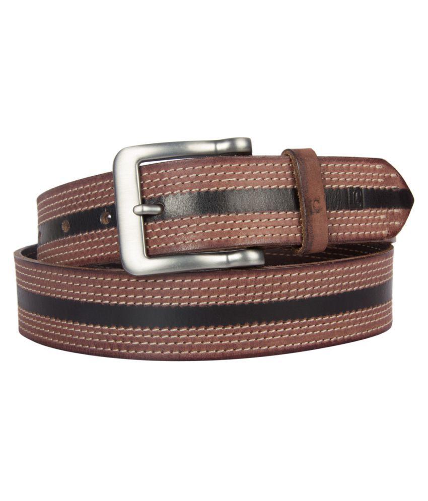 Leder Concepts Brown Leather Formal Belts