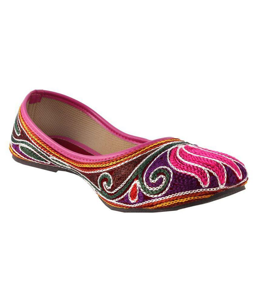 Mozi Multi Color Flat Ethnic Footwear