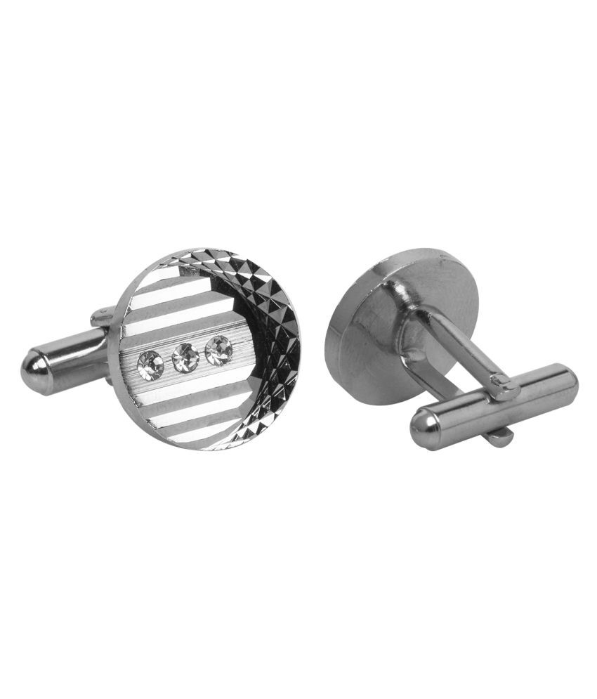 Paranoid Silver Rodhium Plated Cufflinks for Men's