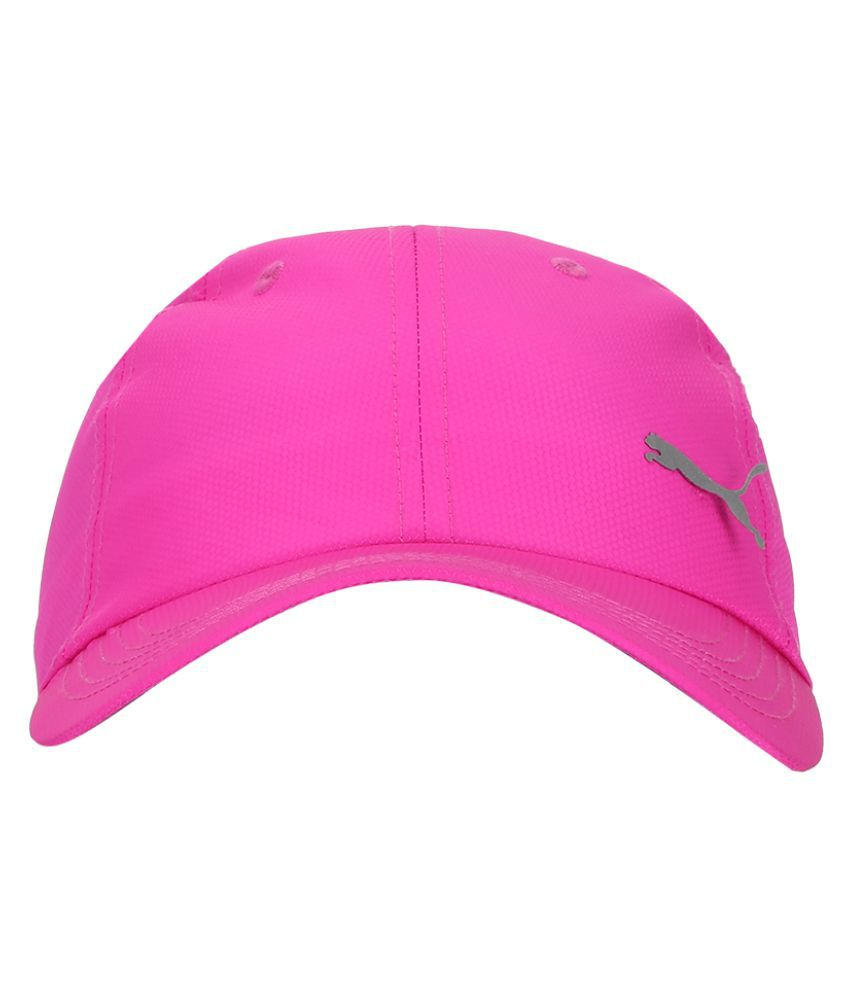 5e0f9679 Puma Pink Plain Polyester Caps - Buy Online @ Rs. | Snapdeal