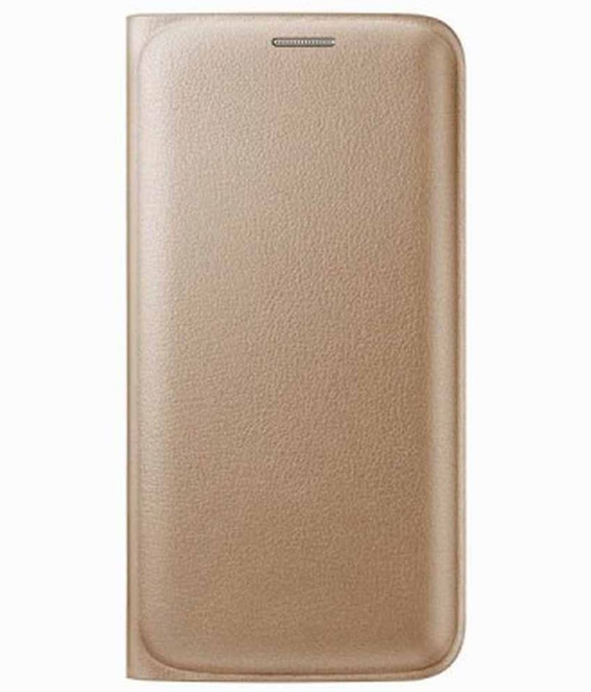 Lava A76 4G Flip Cover by ShoppKing   Golden available at SnapDeal for Rs.291