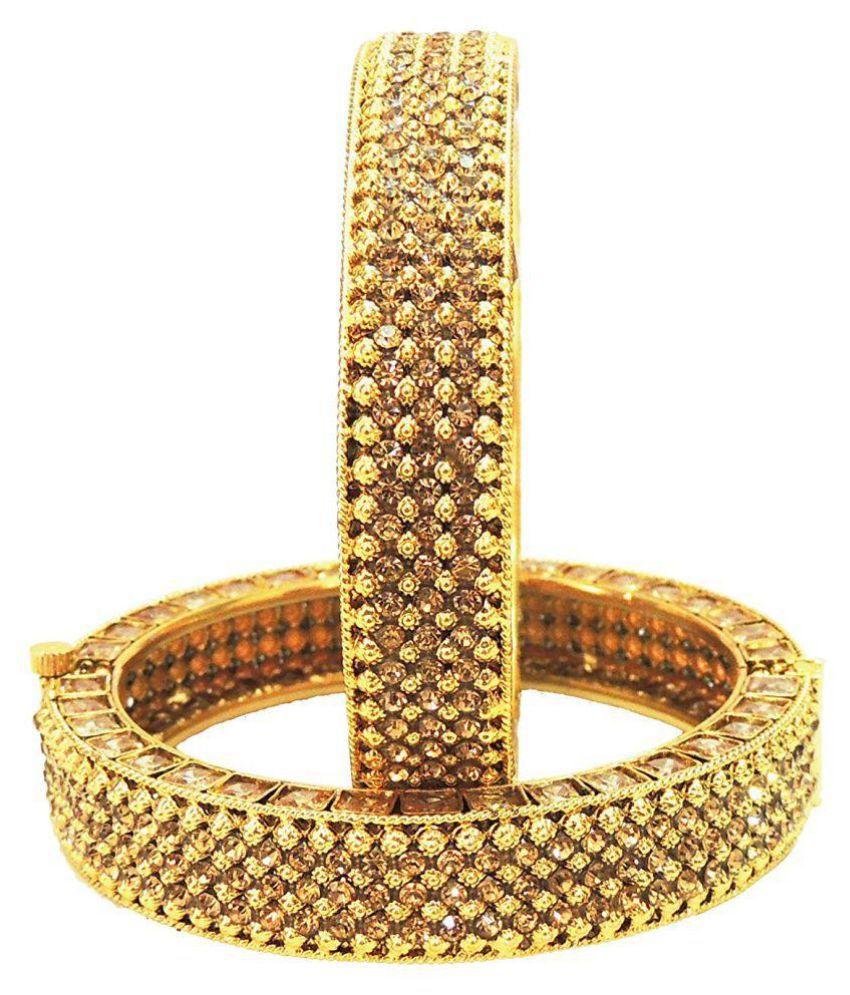 Saytam Jewellery Nx Golden Copper Bangle