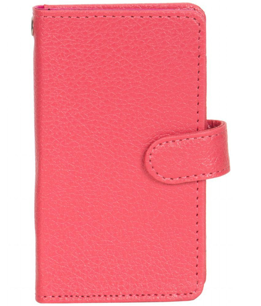 Celkon A107+ Holster Cover by Senzoni - Pink