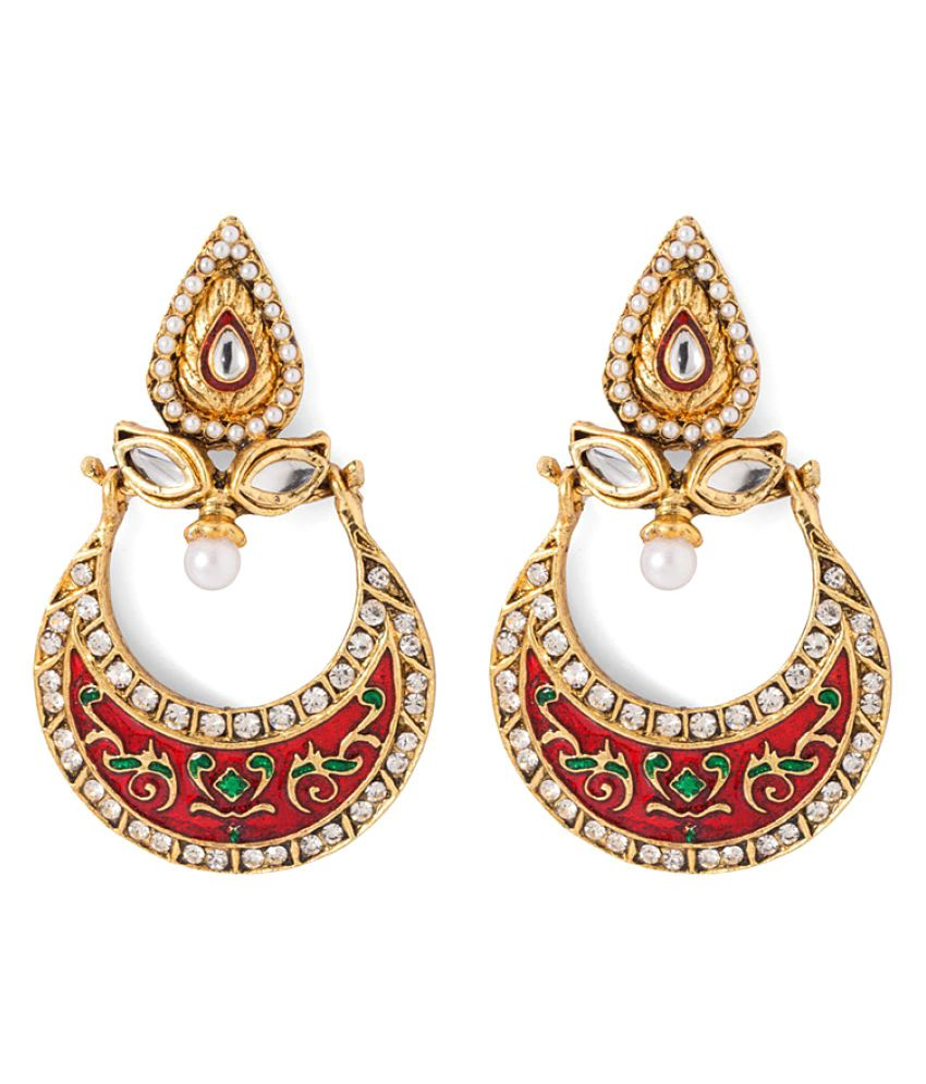 NIA Multicolour Alloy Chandeliers Earrings