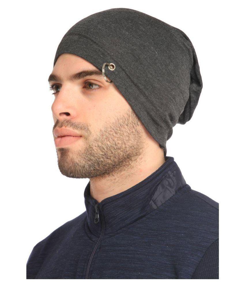 Gudluk Gray Knitted Wool Caps