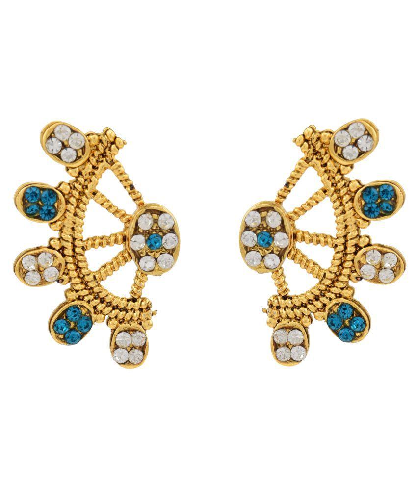 High Trendz Golden Alloy Ear Cuff Earrings