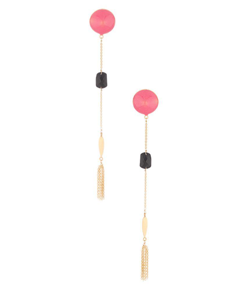 Voylla Golden Alloy Hanging Earring