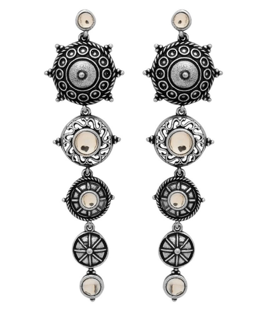 fdddcdf1a Voylla Oxidised Silver Plated Hanging Earring In Traditional Design - Buy  Voylla Oxidised Silver Plated Hanging Earring In Traditional Design Online  at Best ...