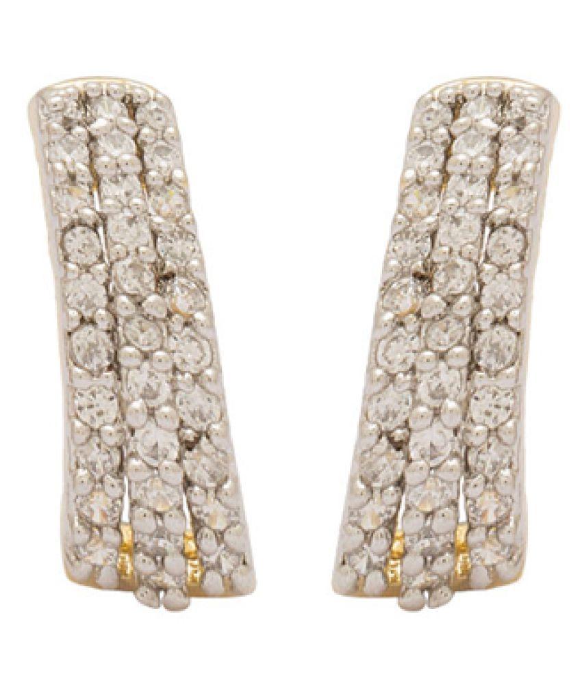 Voylla White Earrings