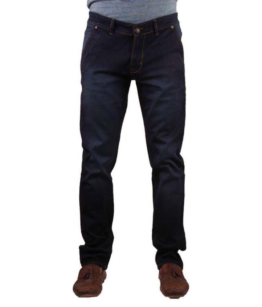 Mad & Min Dark Blue Regular Fit Jeans