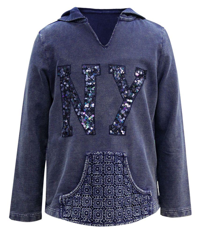The Cranberry Blue Cotton Sweatshirt
