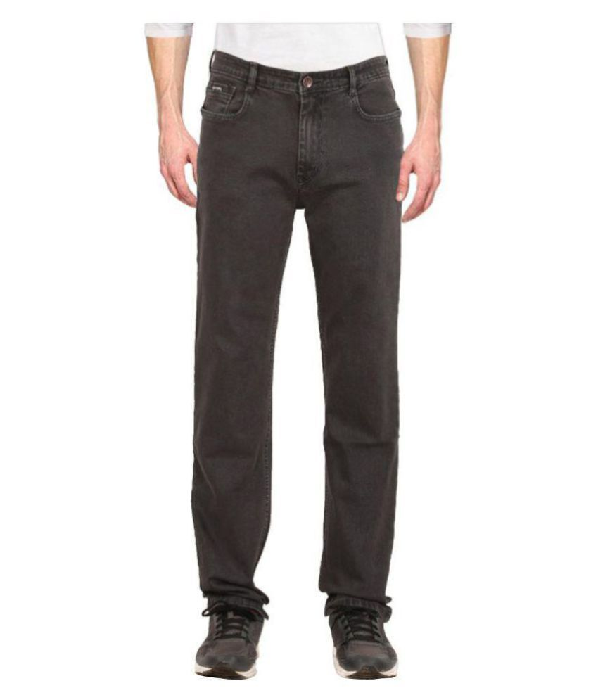 Ancientstar Grey Regular Fit Jeans