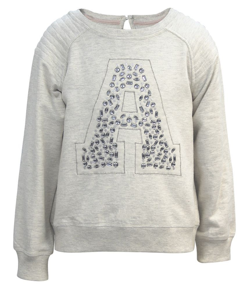 The Cranberry Club Gray Cotton Sweatshirt
