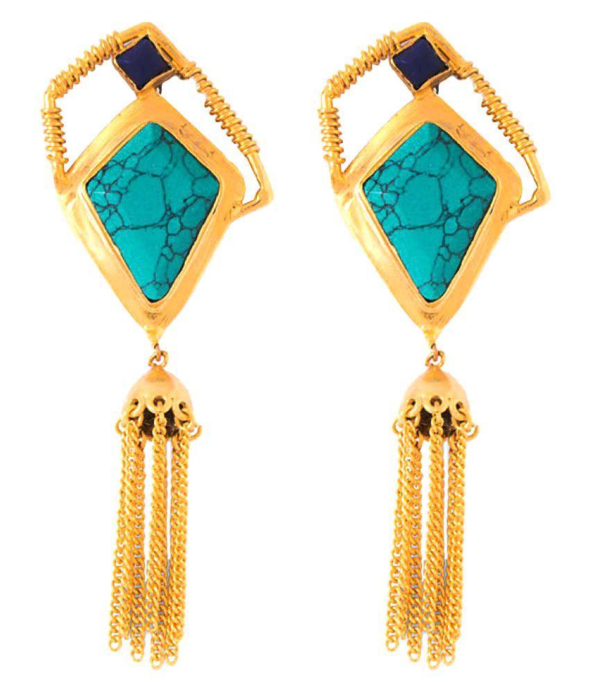 Voylla Multicolor Alloy Hanging Earrings