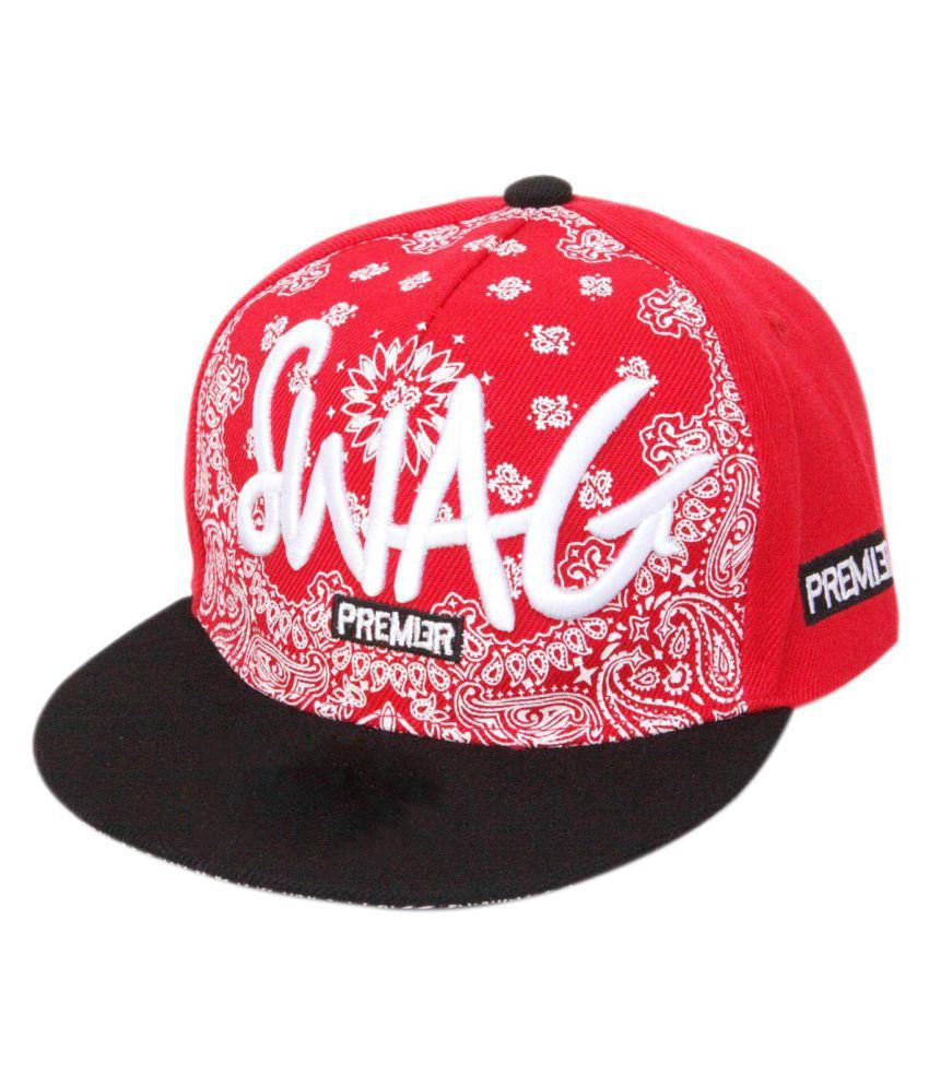 2a965a3d797dd ILU Red Hip Hop Cap  Buy Online at Low Price in India - Snapdeal