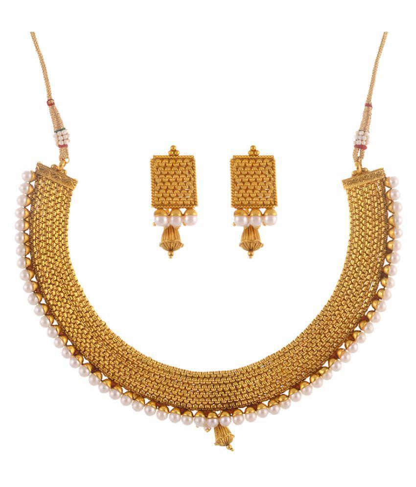 Sewad Golden Copper Necklaces Set