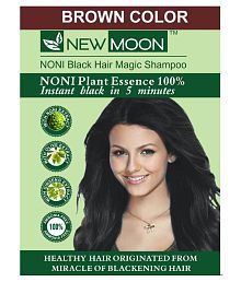 New Moon Brown Hair Color Noni Shampoo Color Permanent Hair Color Black 15 Ml Pack Of 20