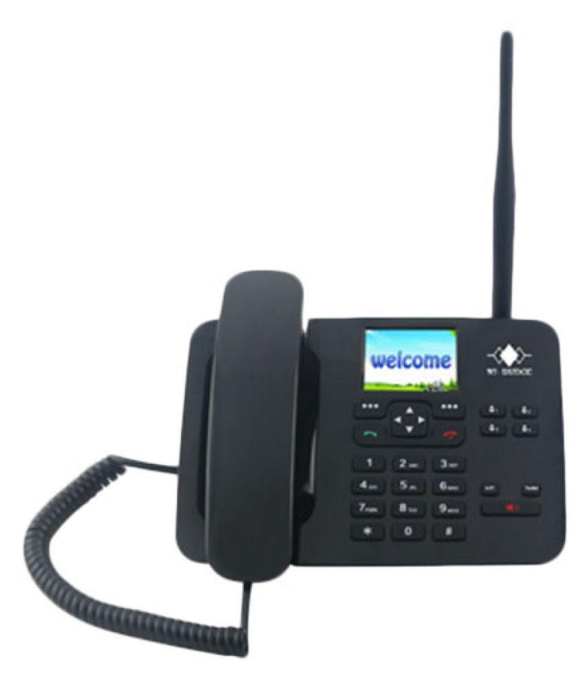 Wi-Bridge RM3G301 Wireless GSM Landline Phone ( Black ) 3G FWP with WIFI  Hotspot (8 users)