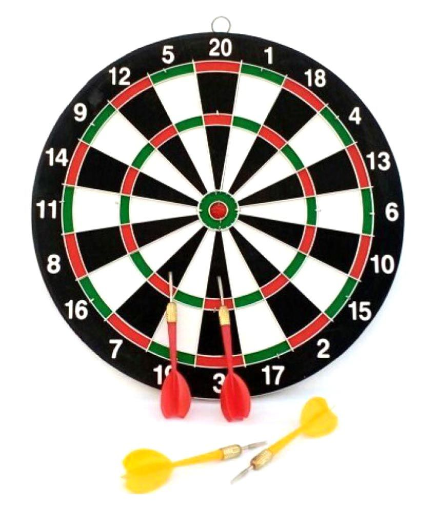 Asa Products Dart Board with 4 Steel Dip
