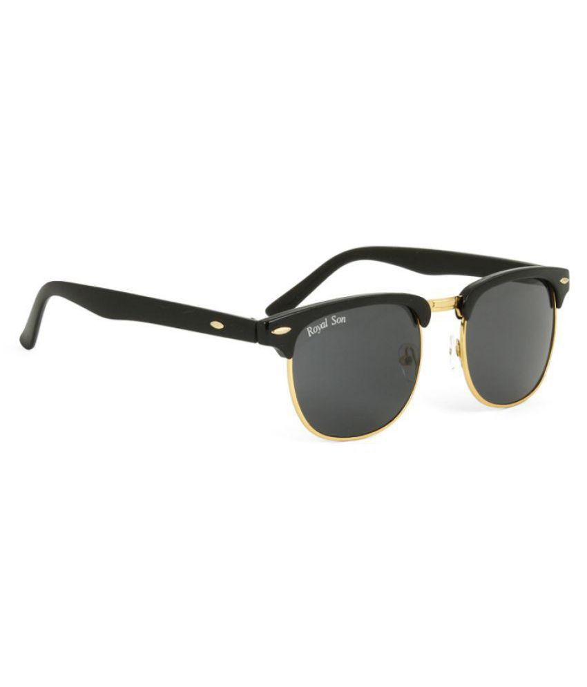 buy wayfarer sunglasses  Royal Son Black Wayfarer Sunglasses ( WHAT1555 ) - Buy Royal Son ...