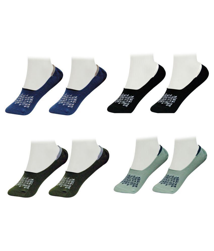 Gold Dust Multi Latest Fancy Loafer Socks (4 Pair)