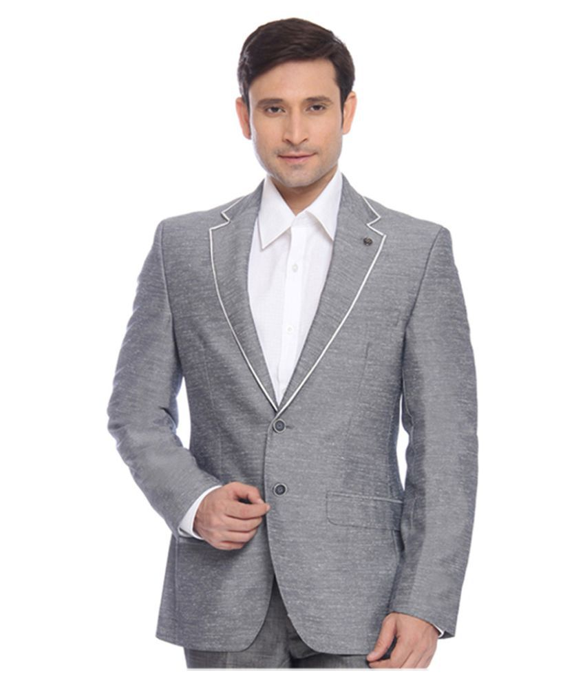Raymond Grey Solid Formal Jackets