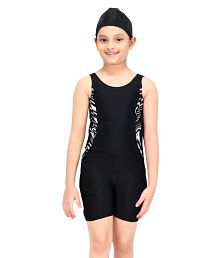 Fashion Fever Black Swim Suits for Girls