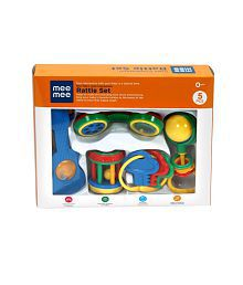 Mee Mee Baby Colourful Infant Rattle_5 Pcs