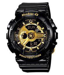 Casio Black Digital Silicon Watch