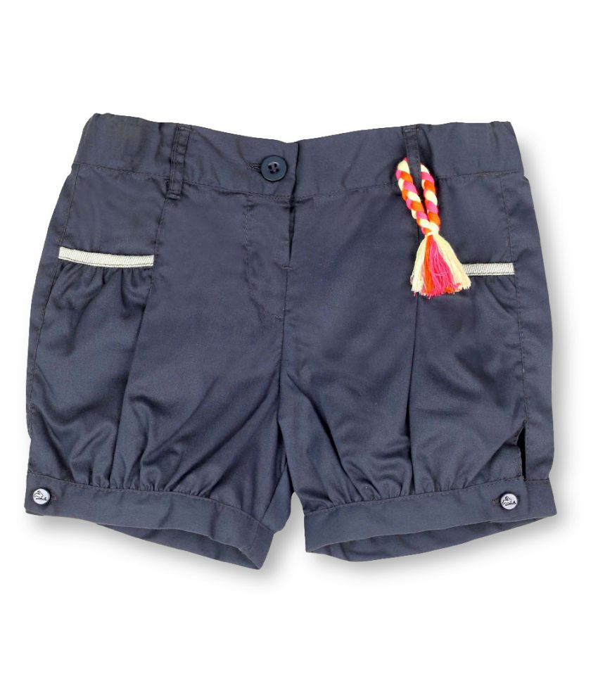 Cherry Crumble California Gray Cotton Hot Pants For Girl