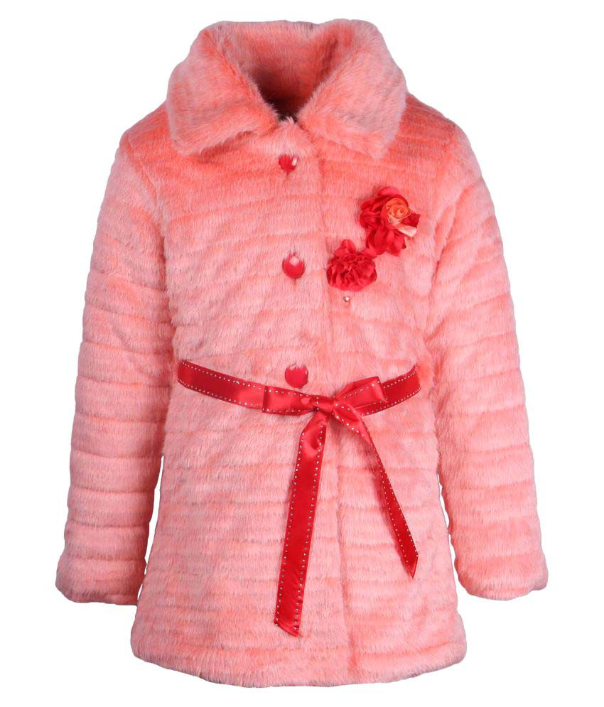 Cutecumber Baby Pink Polyester Girls Jacket