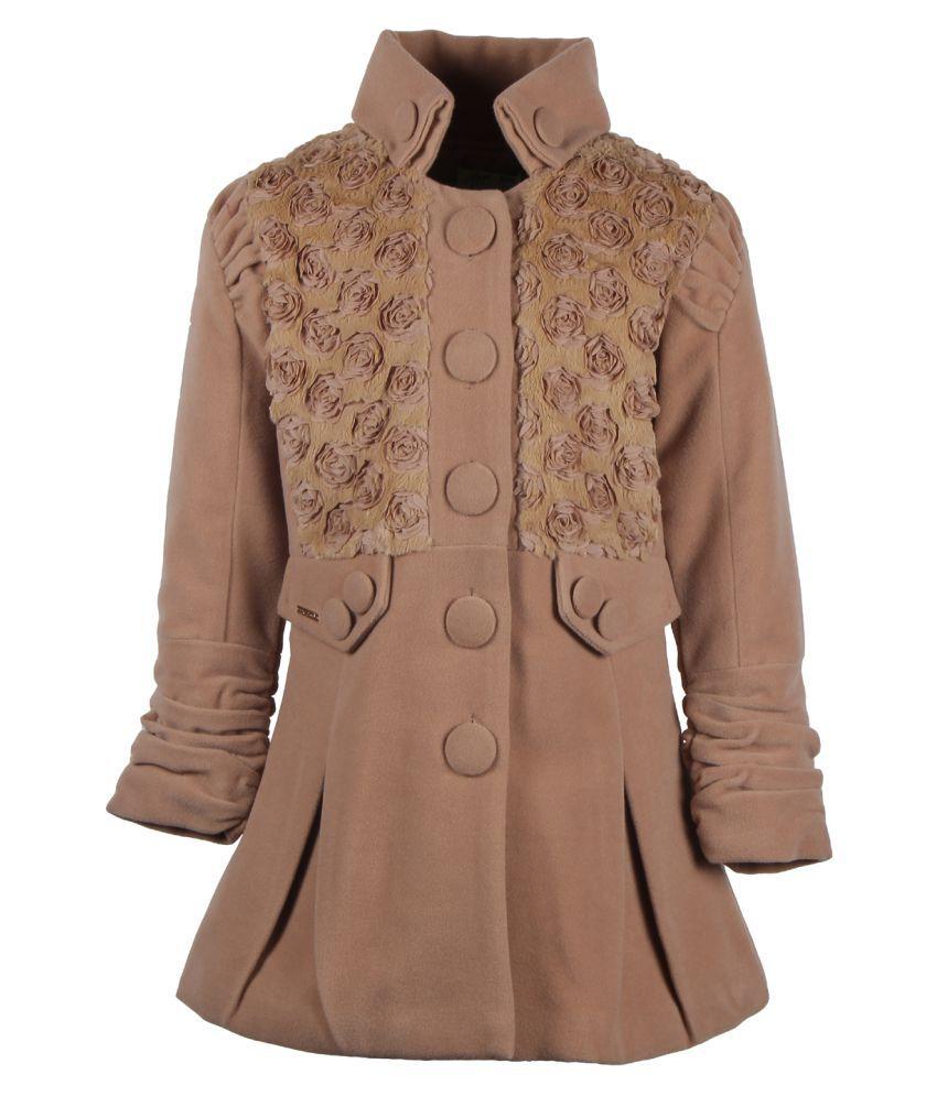 Cutecumber Brown Polyester Winter Jacket
