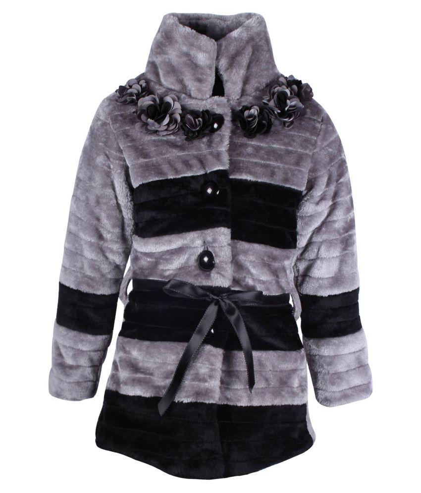 Cutecumber Gray Polyester Girls Jacket