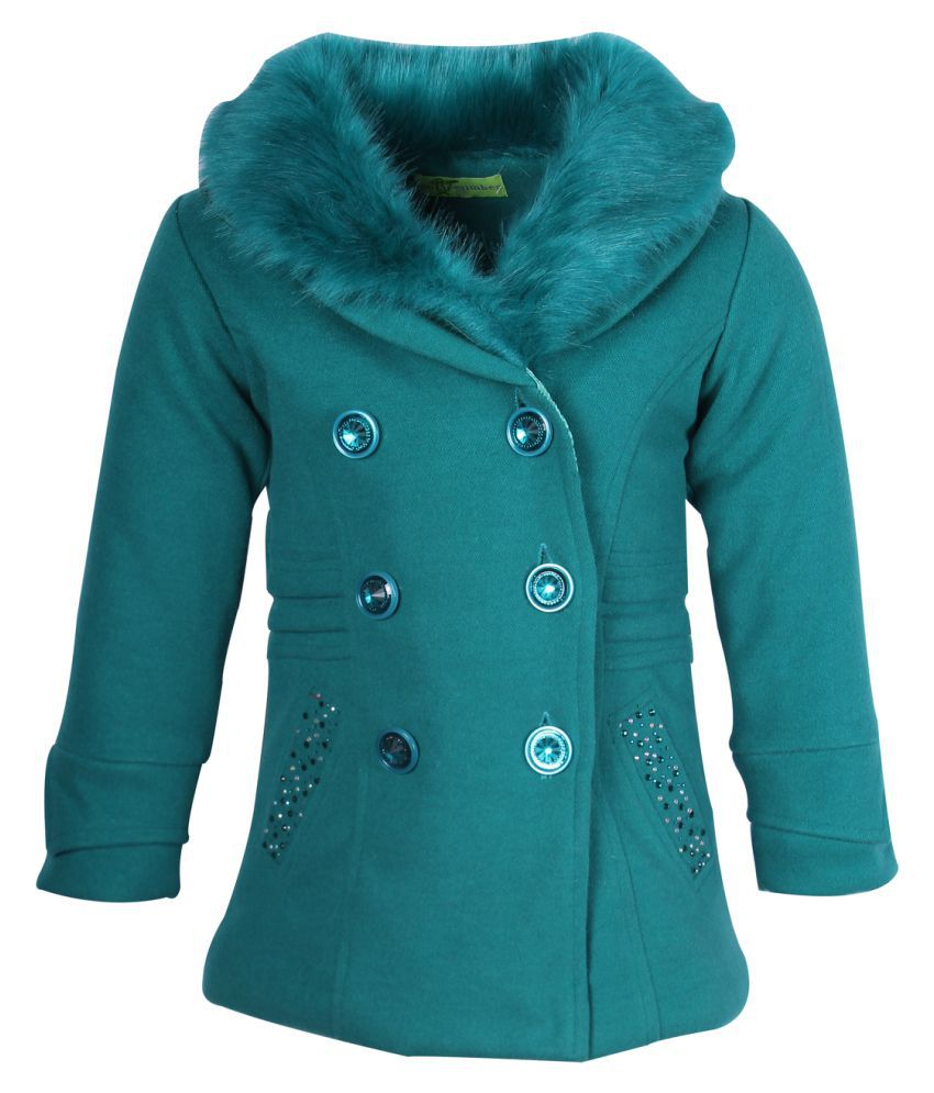 Cutecumber Green Polyester Winter Coat