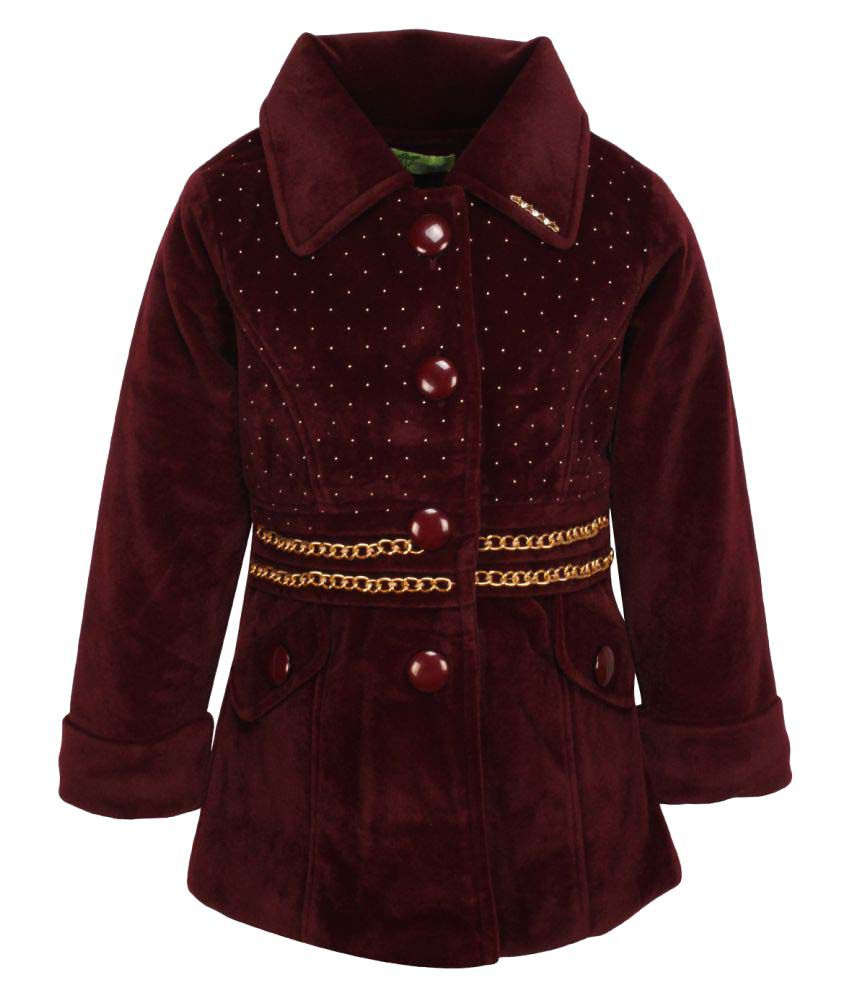 Cutecumber Maroon Polyester Girls Jacket