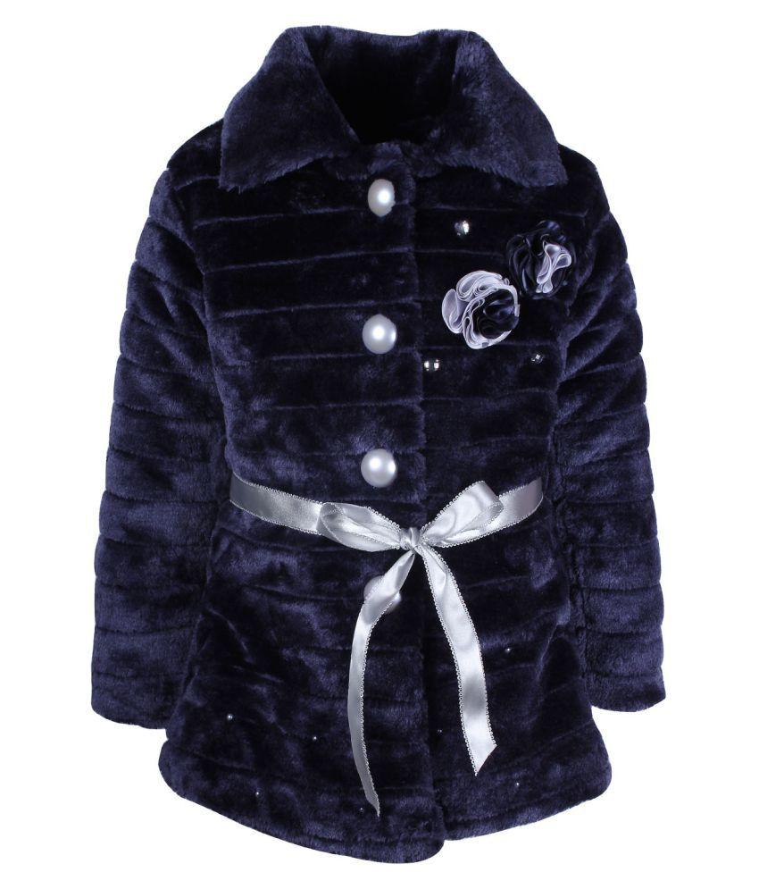 Cutecumber Navy Polyester Coats