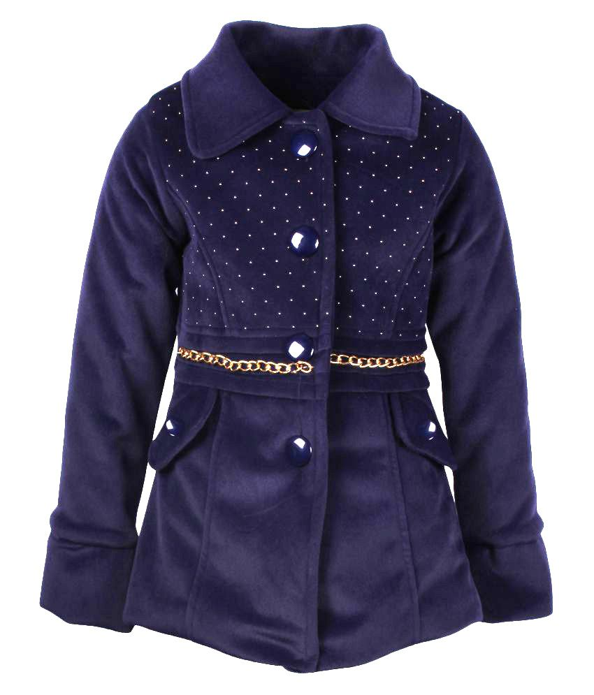 Cutecumber Navy Polyester Jacket