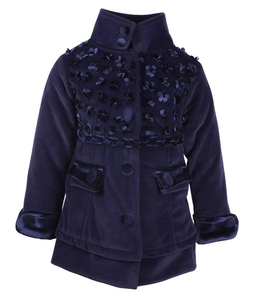 Cutecumber Navy Polyester Winter Jacket