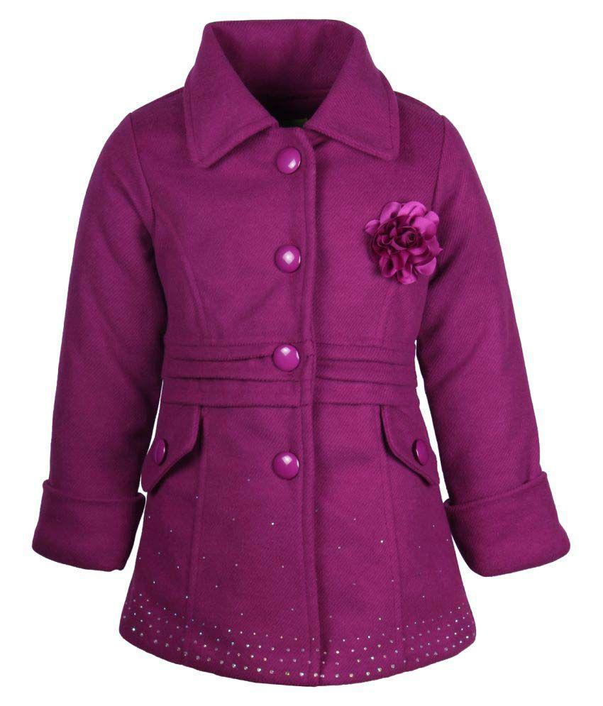 Cutecumber  Partywear Winter  Girls  Purple  Jacket
